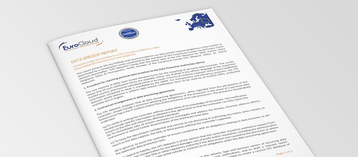 Data Breach Report | EuroCloud Europe